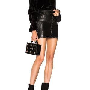 Leather studded skirt